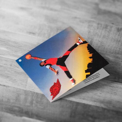 Air Jordan 1 1985 Hang Tag Fold Card Photo Accessory Nike Vintage Retro jumpman