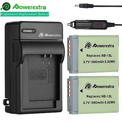 1600mAh NB-13L NB13L Battery + Charger for Canon PowerShot G5X G9X G7X G3 X Cam