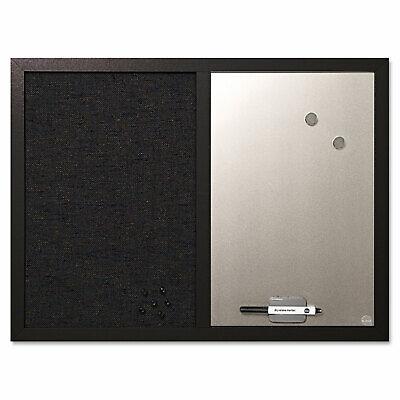 Mastervision Combo Bulletin Board Bulletindry Erase 24x18 Black Frame