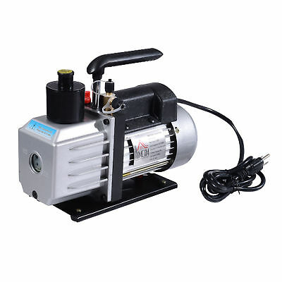 Homcom Single Stage Vacuum Pump 7cfm 12hp Rotary Vane Deep Hvac Ac Air Tool New
