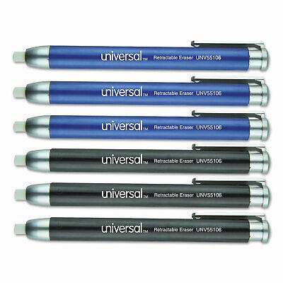 Universal Pen-style Retractable Eraser Blueblack 6pack 55106