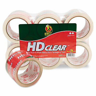 Duck Heavy-duty Carton Packaging Tape 3 X 55yds Clear 6pack 0007496