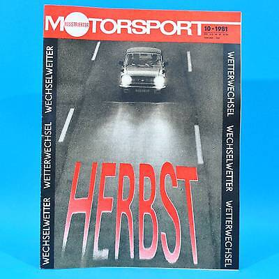 DDR Illustrierter Motorsport IMS 10/1981 Lada WAS 2105 2107 MC Carl Zeiss Jena