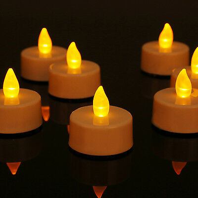 24pcs Flameless LED Tealight Candles Tea Light Battery Decoration Wedding Party](Battery Tealight)