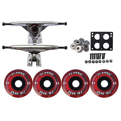 KRYPTONICS CLASSIC Truck Wheel Pack 76mm RED 180mm Raw ABEC 7 Bearings