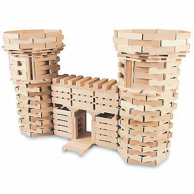 NEW Wooden Plank Building Block Set 100% Maple-Made in USA -400 Piece set