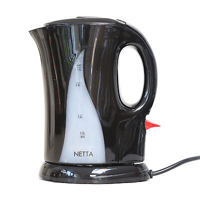 Netta 1000W Fast Boiling Electric Portable Travel Jug Kettle 1L 1 Litre