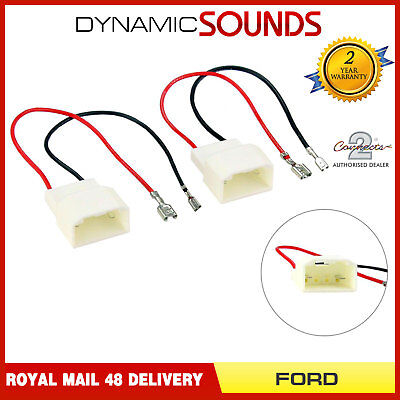 Car Speaker Adaptor Wiring Harness Connectors for Ford Fiesta, C-Max, S-Max