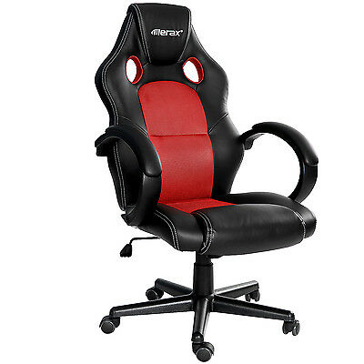 Sale Merax Racing Gaming Chair High Back Pu Leather Mesh Ergonomic Office Chair