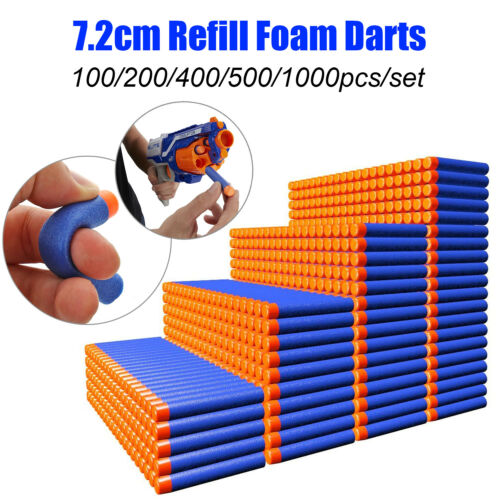 Lot 100-1000Pcs Bullet Darts For NERF N-Strike Kids Toy Gun