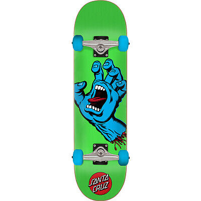 "Santa Cruz Screaming Hand Mid Skateboard Complete - 7.5"" Green/Blue"