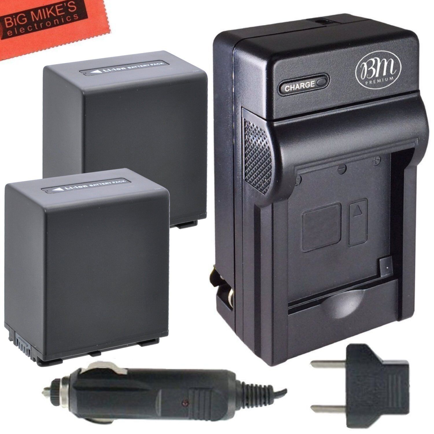 Bm Np-fv100 2x Battery & Charger For Sony Hdr-cx580v,cx70...
