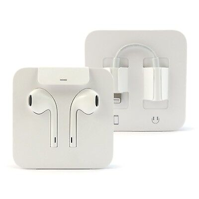 10 OEM Apple Earbuds for iPhone 7/8/X  w/ Lightning Connector