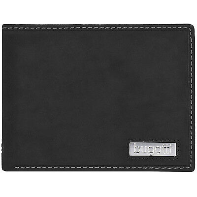 bugatti Brasilia Querformat Herren Geldbörse Portemonnaie Leder 12,5 cm (black)