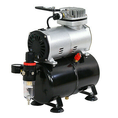 Airbrush Air Tank Compressor Regulator Filter Hose 3L Tank 1450-1750 RPM 1/5 HP