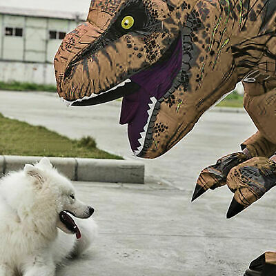 Inflatable Halloween Suit (Halloween Inflatable Dinosaur T-REX Adults  Costume Jurassic  Cosplay Suit)