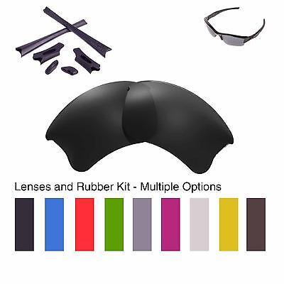 Walleva Lenses and Rubber Kit for Oakley Flak Jacket XLJ - Multiple Options