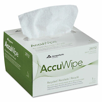 AccuWipe Recycled One-Ply Delicate Task Wipers, 4 1/2 x 8 1/4, White, 280/Box ()