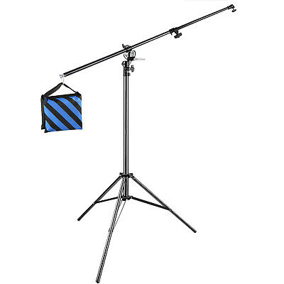 Neewer Photo Studio 13 feet 2-in-1 Light Stand with Boom Arm and Blue Sandbag