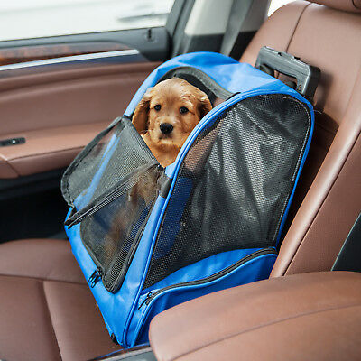 Pet Carrier Dog Cat Rolling BackPack Travel Wheel Luggage Bags Airline Approved ()