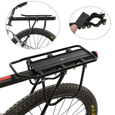Bike Bicycle Back Rear Pannier Rack Alloy Luggage Carrier Holder Seat Post Frame