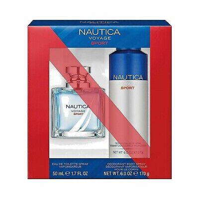 Nautica Voyage Sport Gift Set /1.7-Oz Eau de Toilette Spray/6-Oz Deodorant Spray