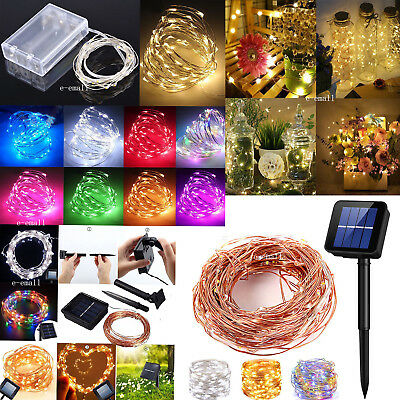 Solar LED String Lights Copper Wire Waterproof Outdoor Fairy LED Decor Garland - Outdoor Party String Lights