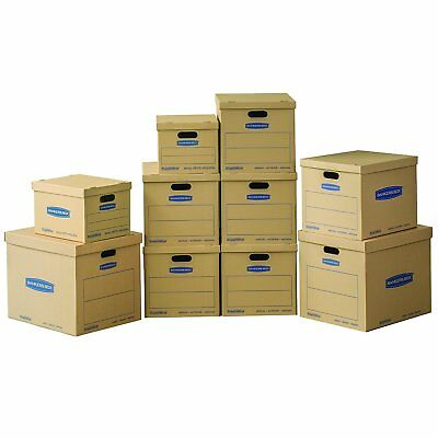 Bankers Box Smoothmove Classic Moving Boxes Value Kit 2 Small6 Medium2 Large