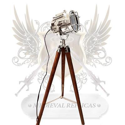 NEW Vintage Floor Lamp Spotlight Standing Tripod Theme Light Lighting Theatre