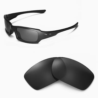 New Walleva Black Polarized Replacement Lenses For Oakley Fives (Oakley Fives 3.0 Replacement Lenses)
