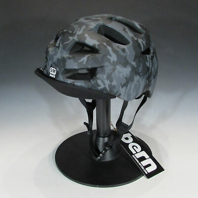 Bern Allston Certified Bike and Skateboard Helmet (Matte Black Camo, (Bern Bike Helmets)