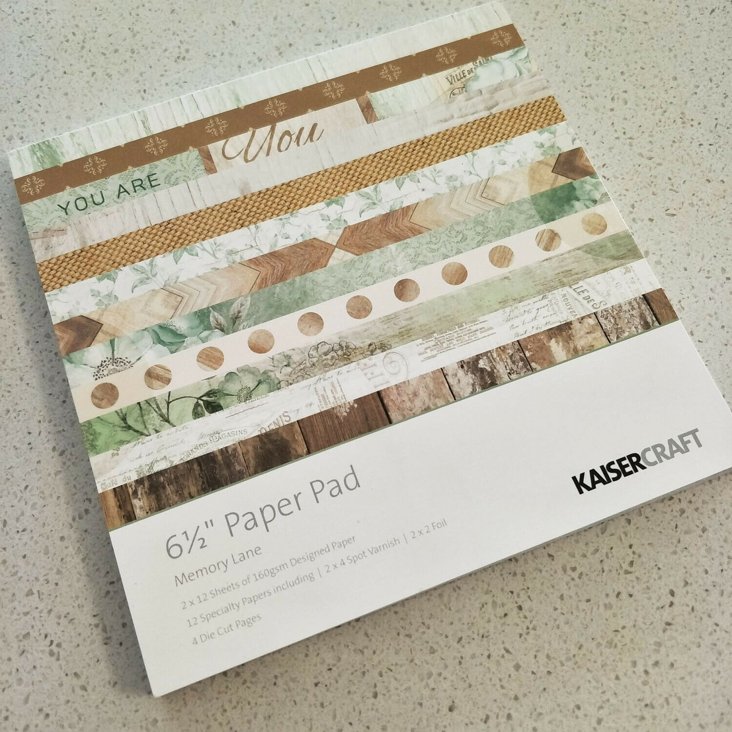 2016 - 2019 Discounted KAISERCRAFT paper pads 6.5 * 6.5 inch 20 options - Memory Lane