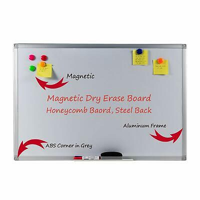 36x24 Inches Magnetic Dry Erase Whiteboard Honeycomb Board Aluminum Frame