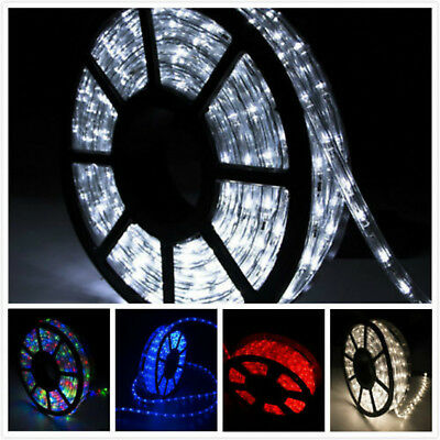 100FT LED Rope Lights Home Party Christmas Decorative In/Outdoor XMAS Festival - Festival Decorations