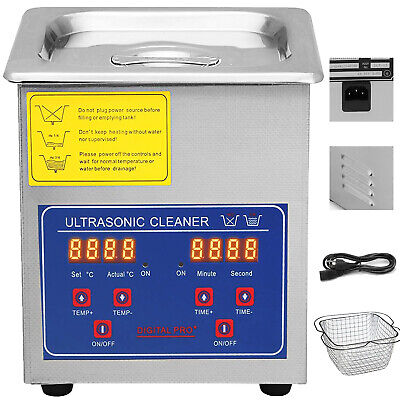2l 110w Stainless Steel Digital Heated Industrial Ultrasonic Parts Cleaner Us