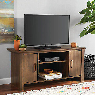 Wood Tv Stand Entertainment Center Home Theater Media Console 47 In Flat Screen