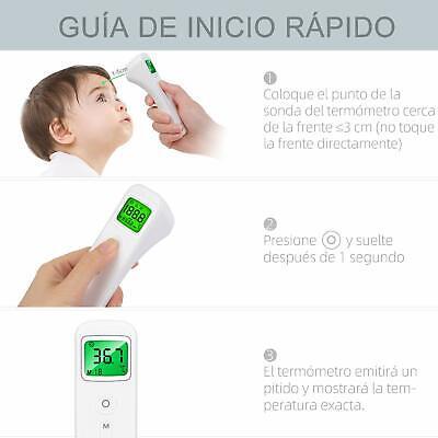 Termometro Infrarrojo Digital Sin Contacto Profesional Con Alarma de Fiebre
