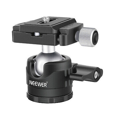 Neewer Low-Profile Ball Head 360 Rotatable Tripod Head for DSLR Cameras Tripods