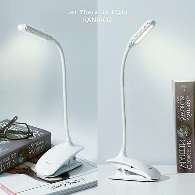 Luce da Lettura per Libro, Lampade da Libro con Clip LED USB Ricaricabile,Camera