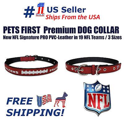 Pets First Best Dog Collar New NFL Signature PRO PVC-Leather Premium Dog