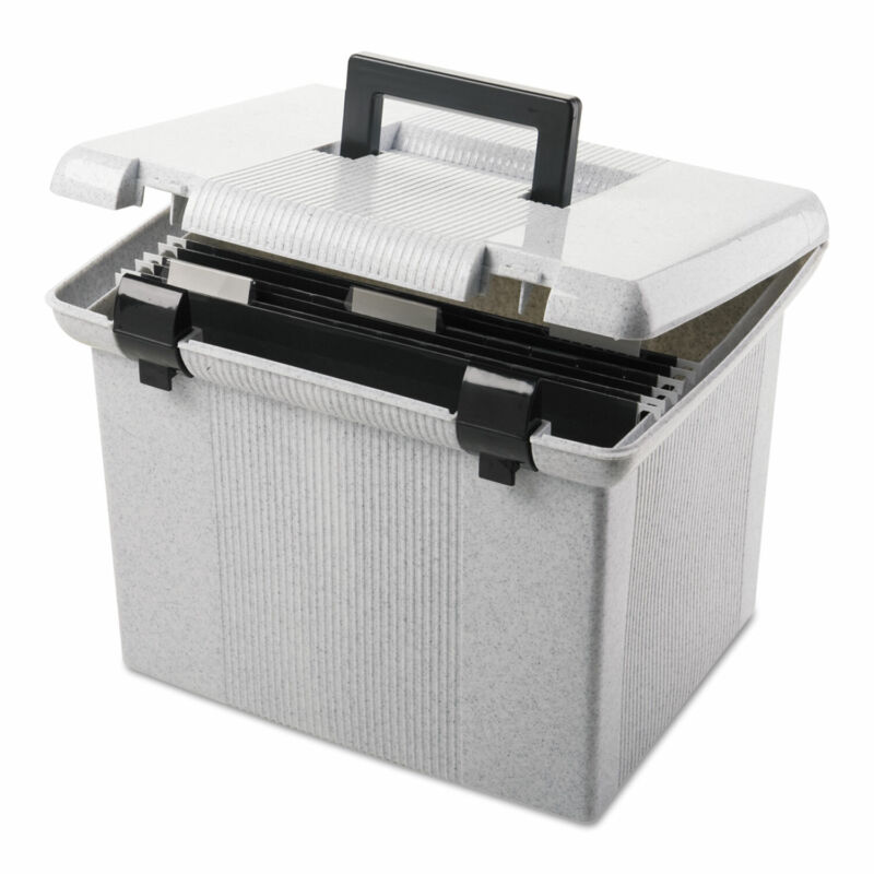 Pendaflex Portafile File Storage Box Letter Plastic 13 7/8 x 14 x 11 1/8 Granite