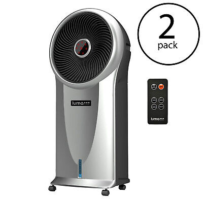 Luma 250 Sq Ft 3 Speed Portable Comfort Evaporative Cooler, Silver (2 Pack)