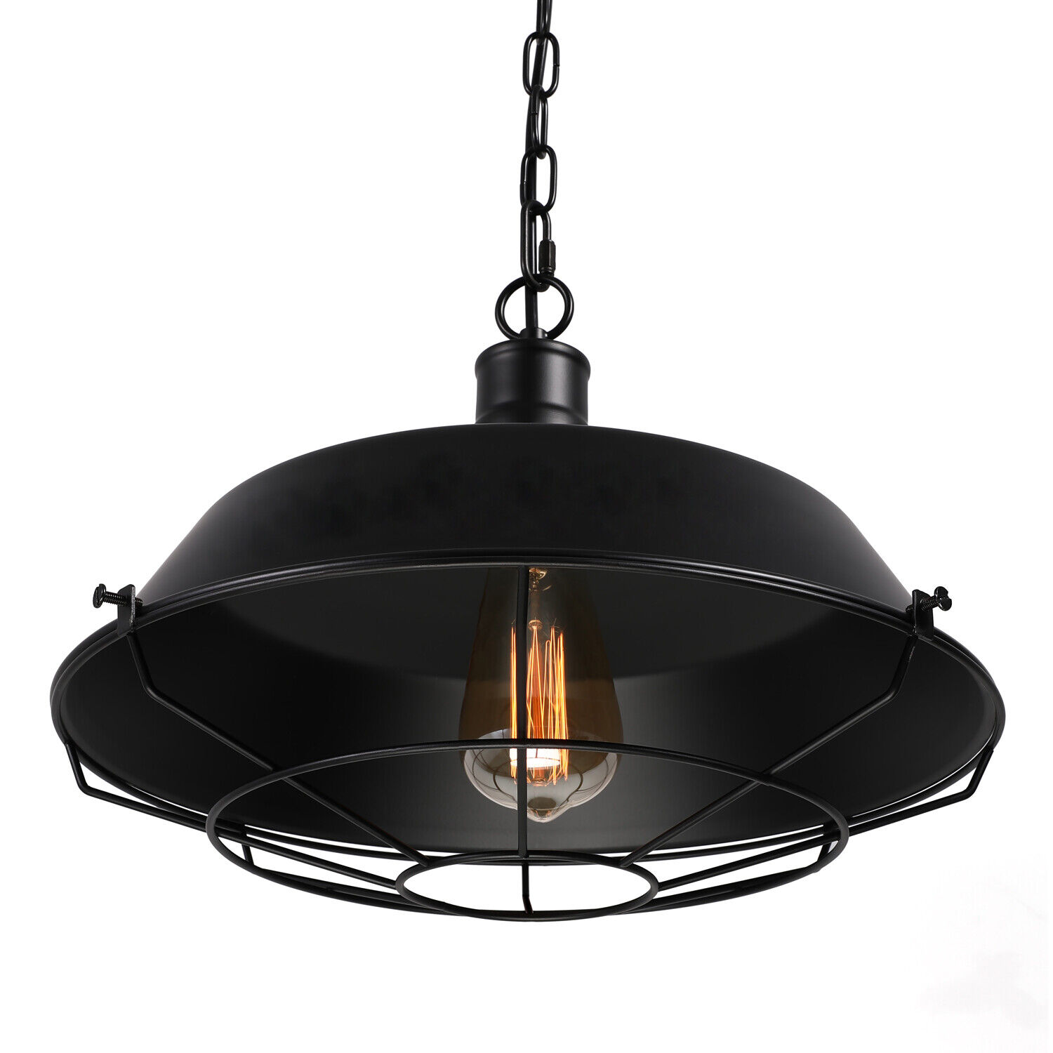 Details About Vintage Cage Pendant Lamp Chandelier Iron Ceiling Light Shade Fixture