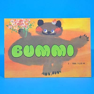 DDR Bummi 3/1986 Kinderzeitschrift 1. Februarheft Geburtstag Kindergarten E