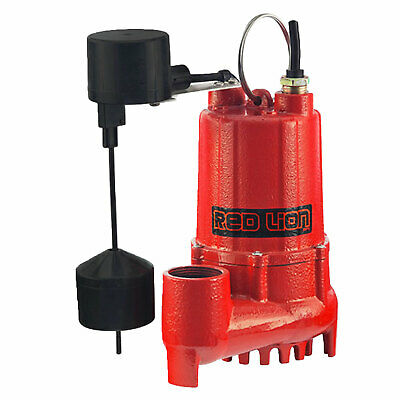 Red Lion Rl-sc33v 13 Hp Cast Iron Submersible Sump Pump With Vertical Switch