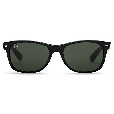 Ray-Ban New Wayfarer Classic Sunglasses (Black/Green Classic G-15)