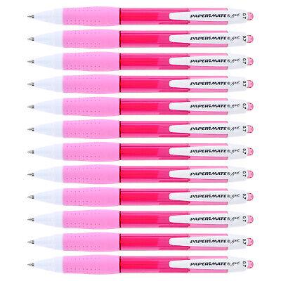Paper Mate Retractable Gel Pens 0.7mm Medium Point Pink Ink 12 Count