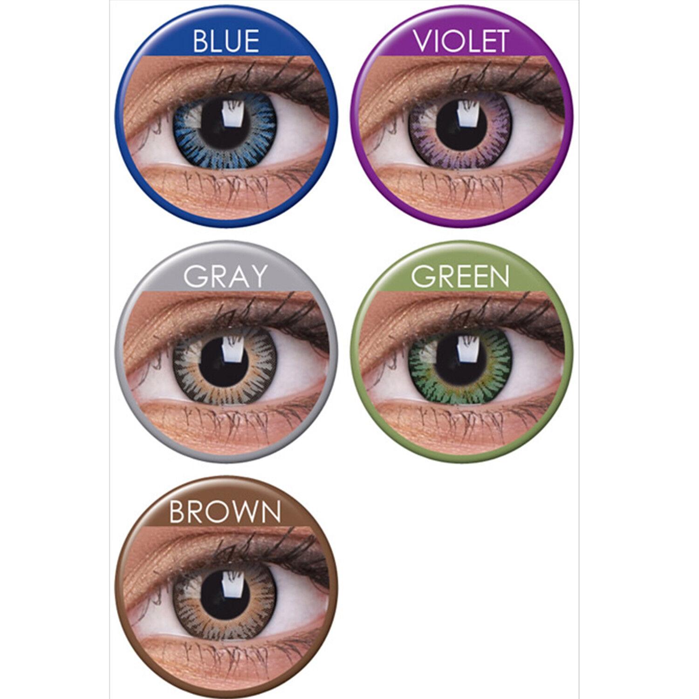 Farbige Bunte Kontaktlinsen Ohne Stärke Monatslinsen Grün Blau Grau Violett