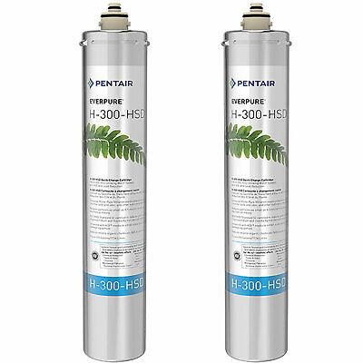 Pentair Everpure H-300-HSD Undersink Water Filter Replacement Cartridge (2 Pack)