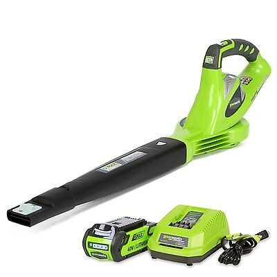 Leaf Blowers Battery Powered GreenWorks 40v Best Cordless Lawn Sweeper 150